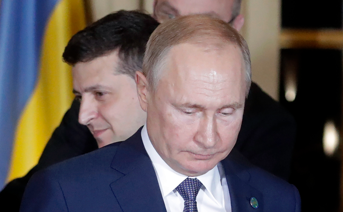 "Киев назвал условие для встречи Путина с Зеленским""/>"