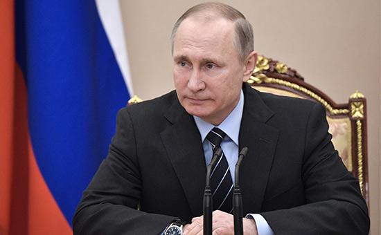 Президент России Владимир Путин назаседании Совета безопасности России вКремле