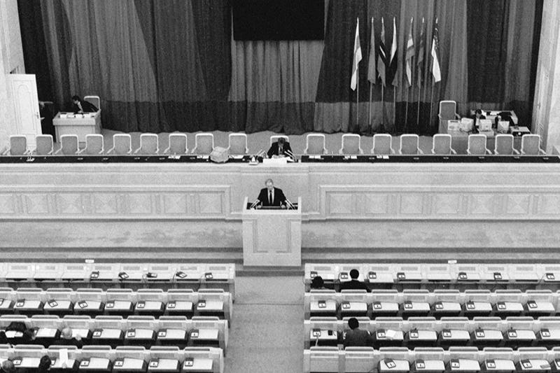 Последнее заседание Совета Республик Верховного Совета СССР, накотором была принята декларация опрекращении существования СССР