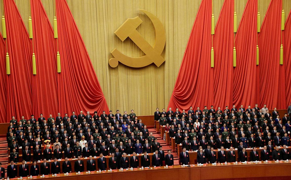 Си Цзиньпин на съезде Коммунистической партии Китая