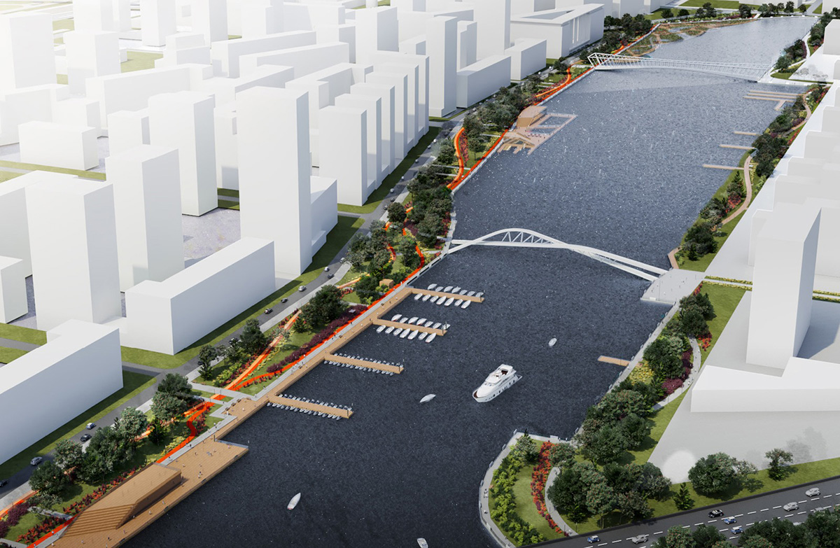 Общая площадь территории, которую планируется благоустроить, составляет около 33,6 га