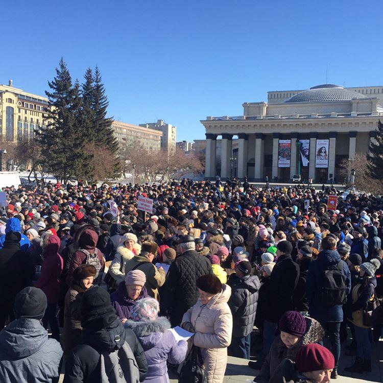 Пятый митингпобилрекорд посещаемости подобных акций в Новосибирске
