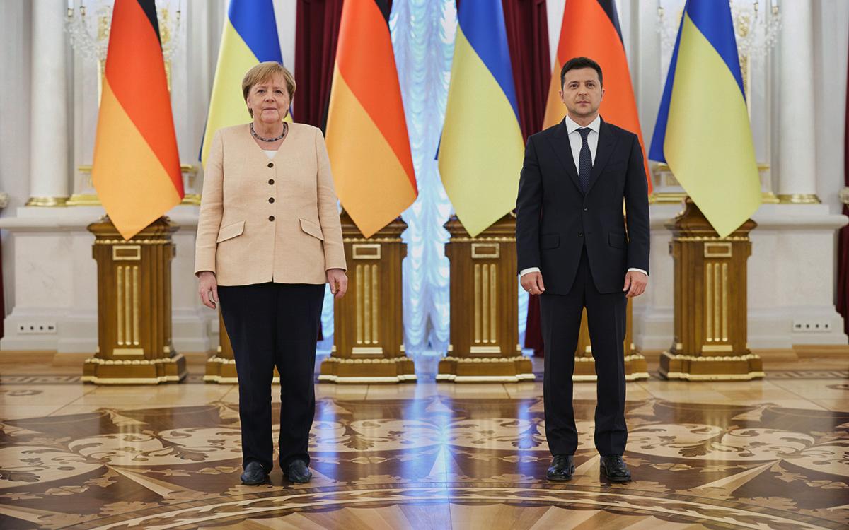 Ангела Меркель иВладимир Зеленский