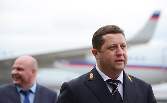 Генеральный директор Специального летного отряда «Россия» Ярослав Одинцев (справа)