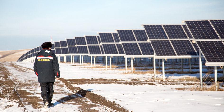 Солнечная электростанция на Алтае
