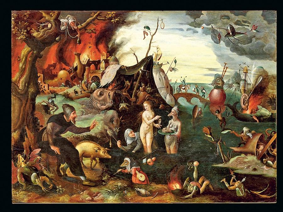 «Искушение святого Антония». Приписывается Питеру Гюйсу, 1547 год