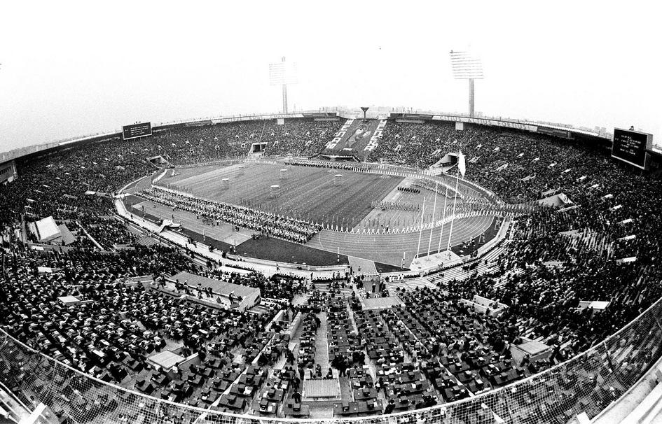 В 1980 году здесь прошли церемонии открытия и закрытия Олимпиады, а также несколько этапов Игр  На фото: торжественное открытие XXII летних Олимпийских игр. 1980 год