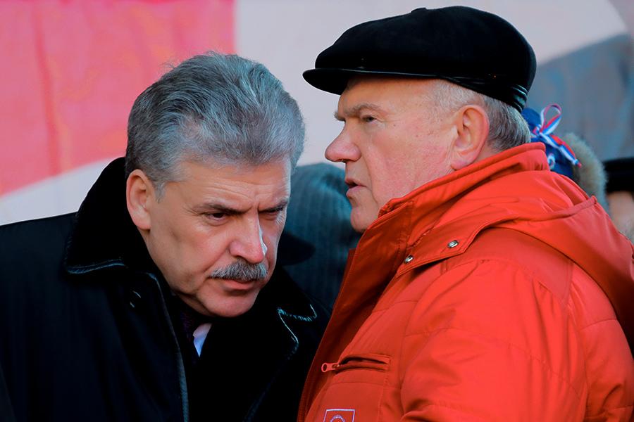 Павел Грудинин и Геннадий Зюганов (слева направо)