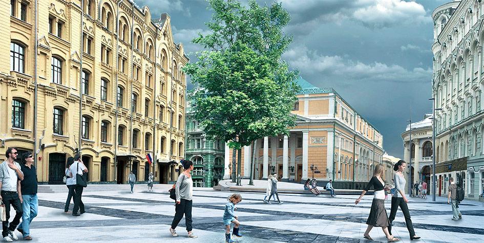 Проект благоустройства наБиржевой площади