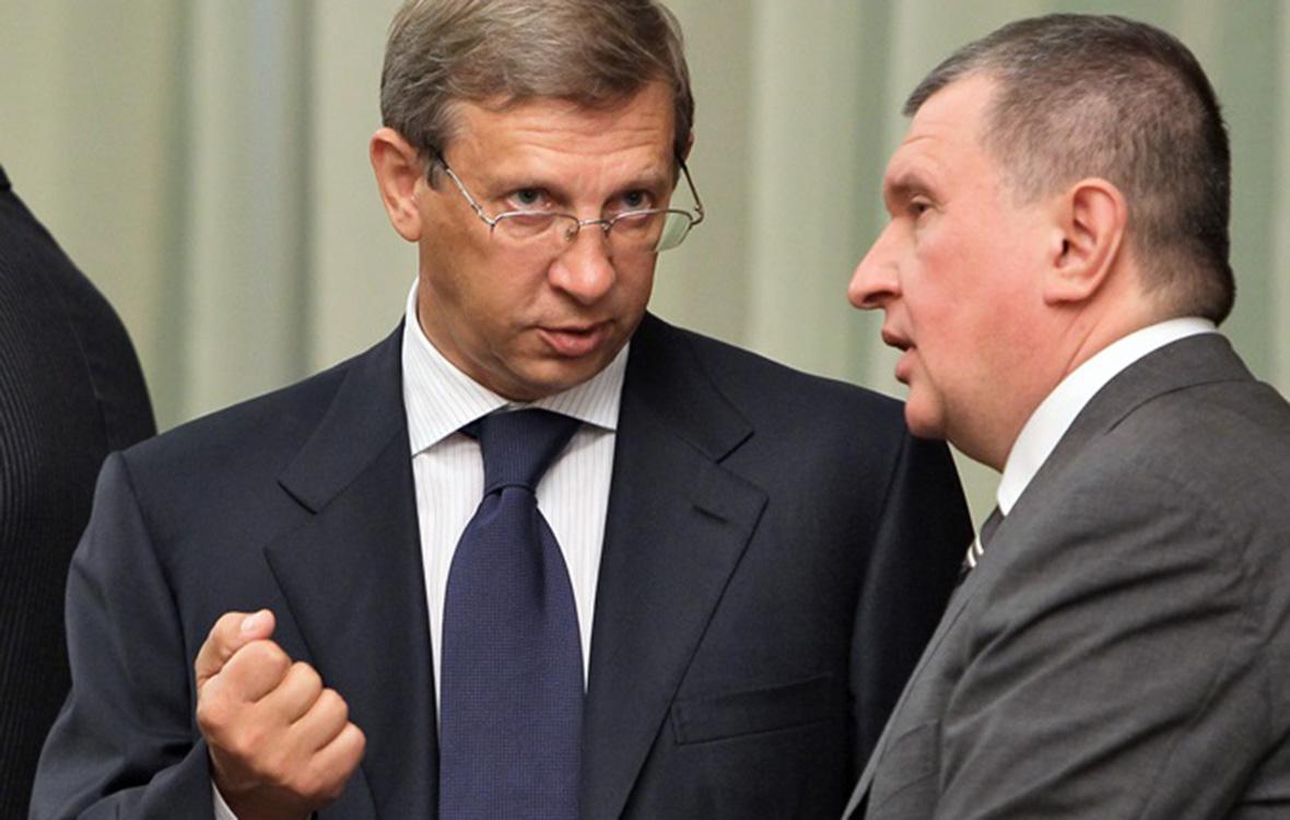 Владимир Евтушенков и Игорь Сечин. 2010 год