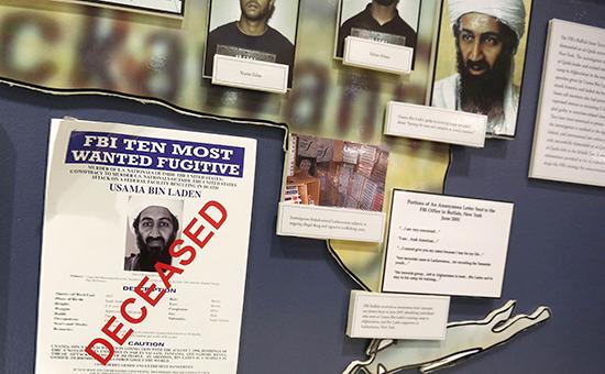 Портрет Усамыбен Ладана в штаб-квартире ФБР. Архивное фото