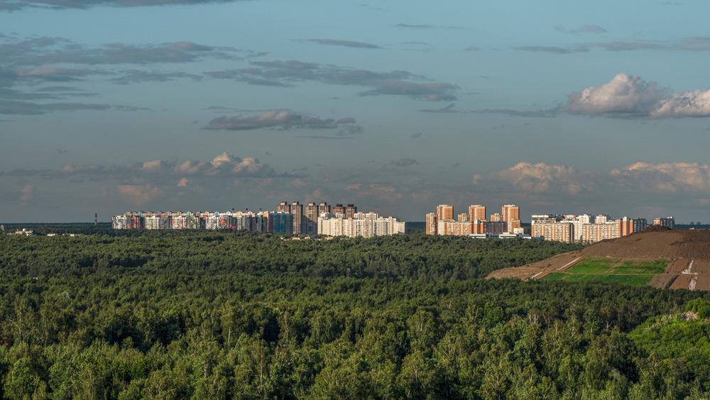 Вид на северные районы Москвы