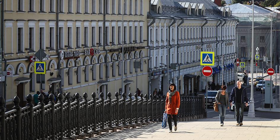 Рождественский бульвар после реконструкции в рамках программы благоустройства «Моя улица»