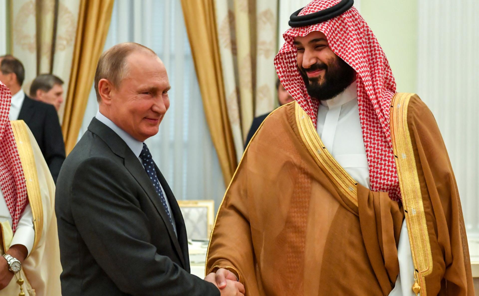 Принц Мухаммед бен Салман Аль Сауд и президент России Владимир Путин