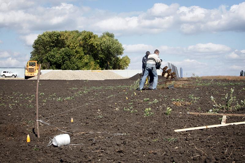 Начало строительных работ рядомсселом Солоти Валуйского района Белгородской области