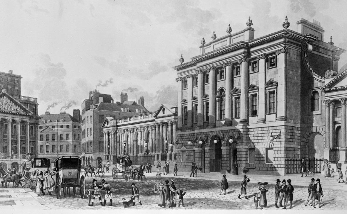 Гравюра Банка Англии 1816 года