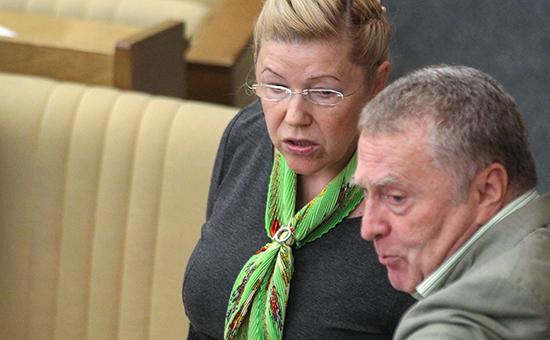 Политик Владимир Жириновский исенатор Елена Мизулина