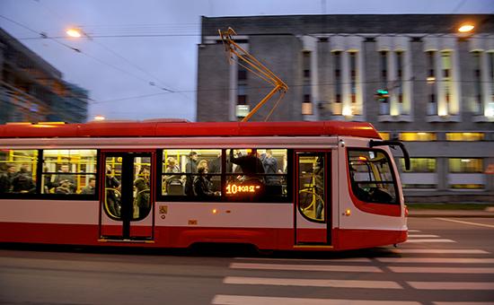 Демонстрационный рейс скоростного трамвая