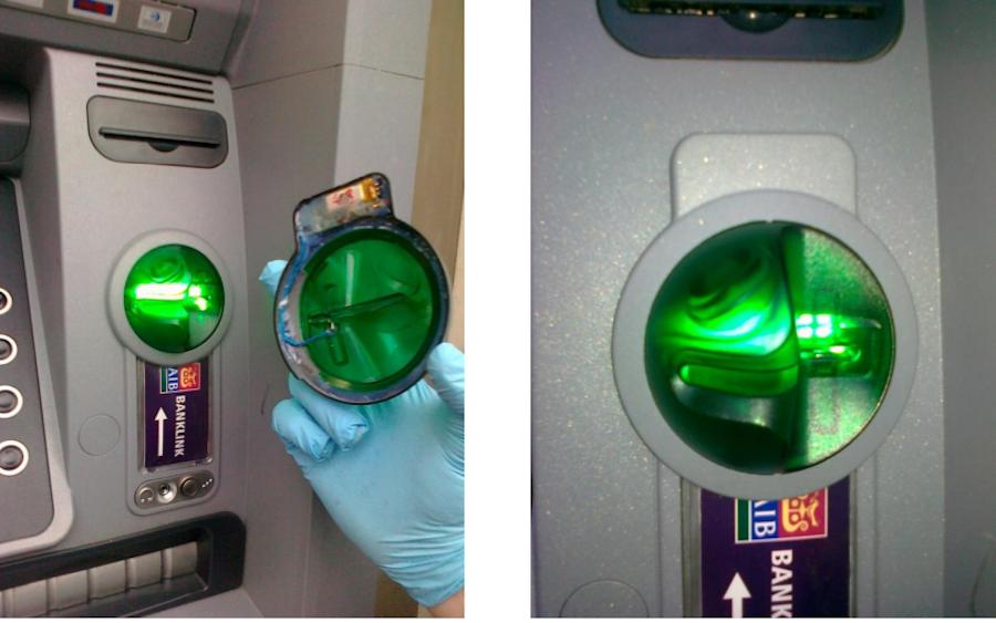 Устройство для скимминга на ирландском банкомате