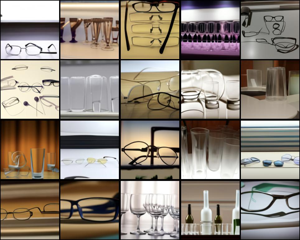 Генерация изображений по слову «glass»