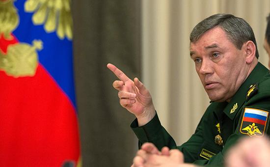 Начальник Генерального штаба Вооруженных сил РФ Валерий Герасимов