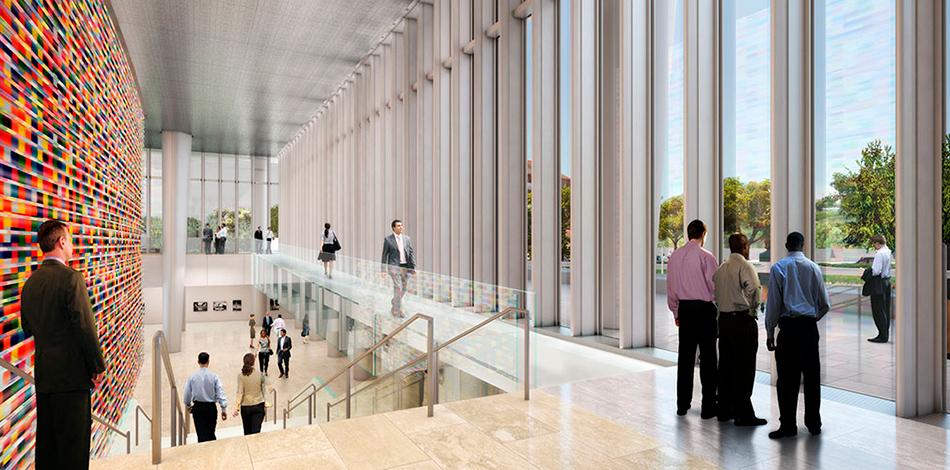 В помещениях общей площадью 45 тыс. кв. м смогут работать 1 тыс. человек персонала, а также одновременно находиться до 1 тыс. посетителей