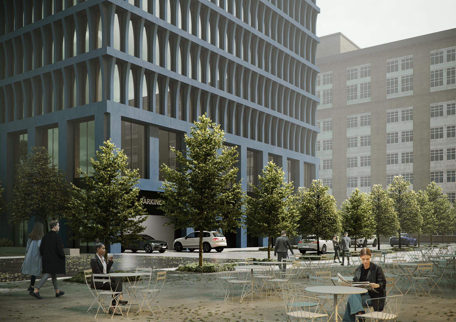 Премиальный офисный квартал STONE Towers на «Белорусской». Визуализация STONE HEDGE