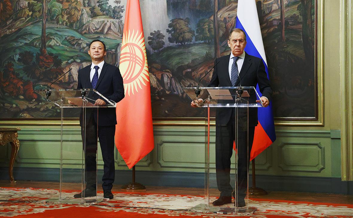 Руслан Казакбаев и Сергей Лавров