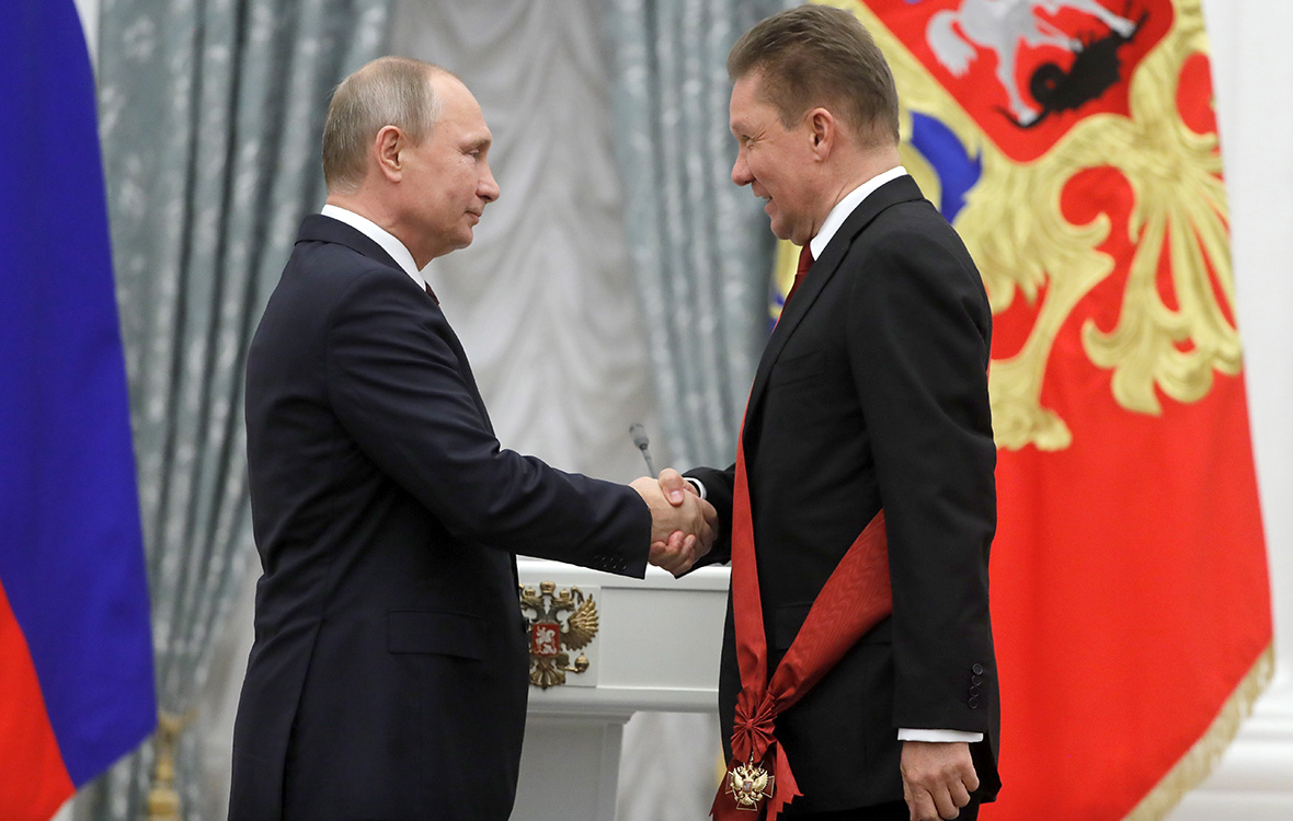 Владимир Путин иАлексей Миллер