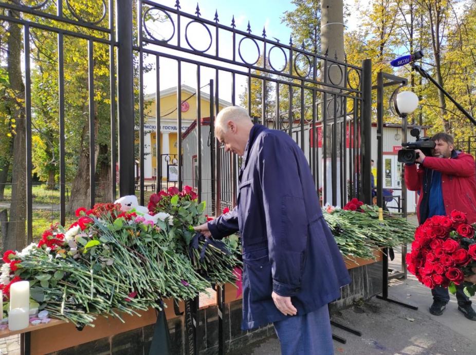 Александр Бастрыкин посетил университет, в котором произошла стрельба