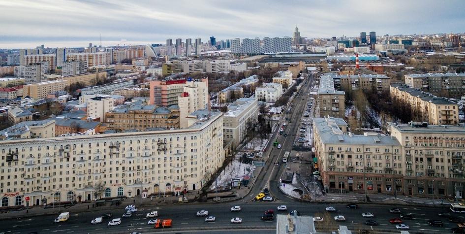 Вид на Беговой район Москвы