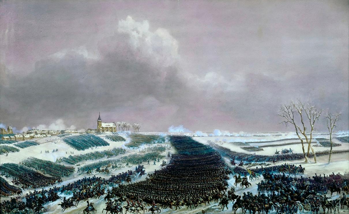 Битва при Прейсиш-Эйлау. Картина XIX века, предположительно автор Жан-Антуан-СимеонФорт