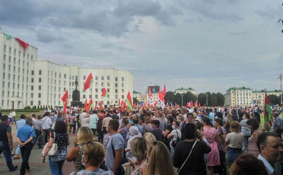 Могилев, митинг на центральной площади Ленина