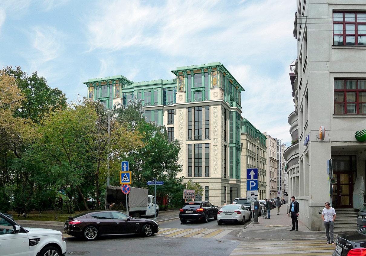 Новый жилой комплекс расположен рядом с Патриаршими прудами. Девелопер — «Инвестстройком». Клубный дом рассчитан на 16 квартир площадью от 130 до 318 кв. м. Подземный паркинг предусмотрен на 46 машино-мест