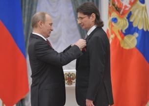 Владимир Путин и Леонид Федун