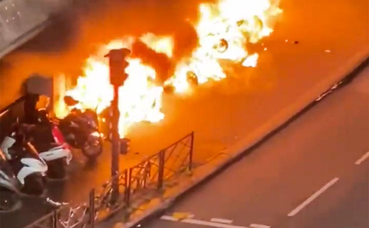 Пожар около Лионского вокзала
