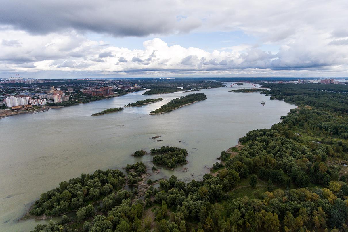 Вид на реку Обь в Новосибирске