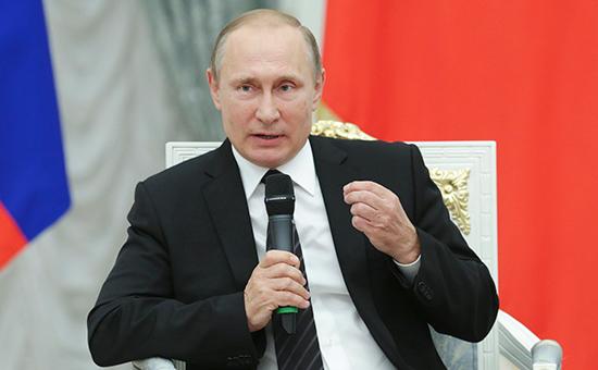 Президент России Владимир Путин вовремя встречи сфракцией «Единая Россия» иэкспертами вКремле. 6 сентября 2016 года