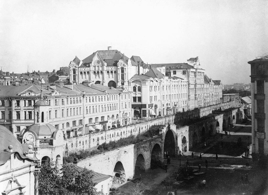 Китайгородская стена состороны Новой площади. 1926 год