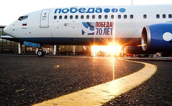Самолет Boeing 737-800 NG авиакомпании «Победа»