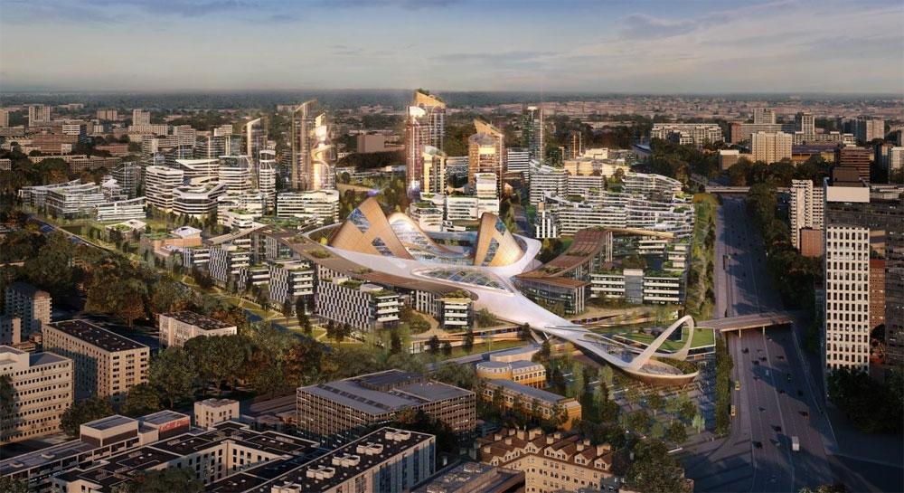 Предварительная концепция бюро LDA Design, представленная в рамках международного конкурса на реорганизацию территории завода «Серп и молот»