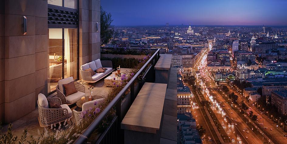 Вид на центр Москвы из Alcon Tower