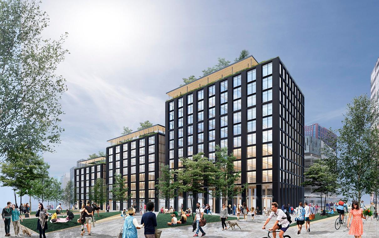 Проект деревянного офисного комплекса