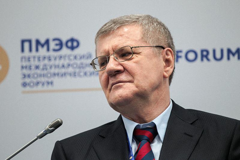 Генеральный прокурор РФ Юрий Чайка наПетербургском международном экономическом форуме