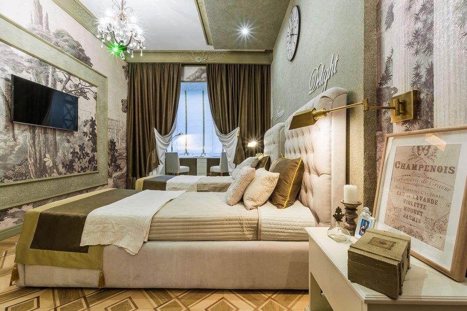 Комната для15-летних двойняшек выполнена всдержанном классическом стиле