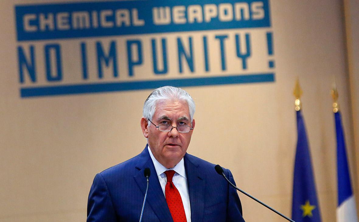 Тиллерсон возложил на Россию ответственность за все химатаки в Сирии