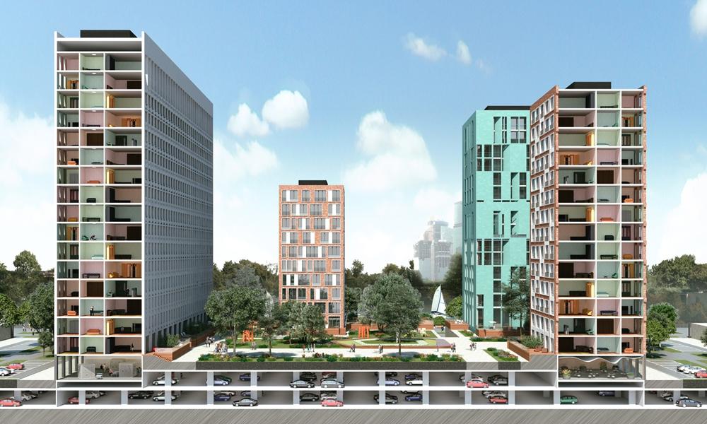 Архитекторы предложили проект застройки Западного речного порта