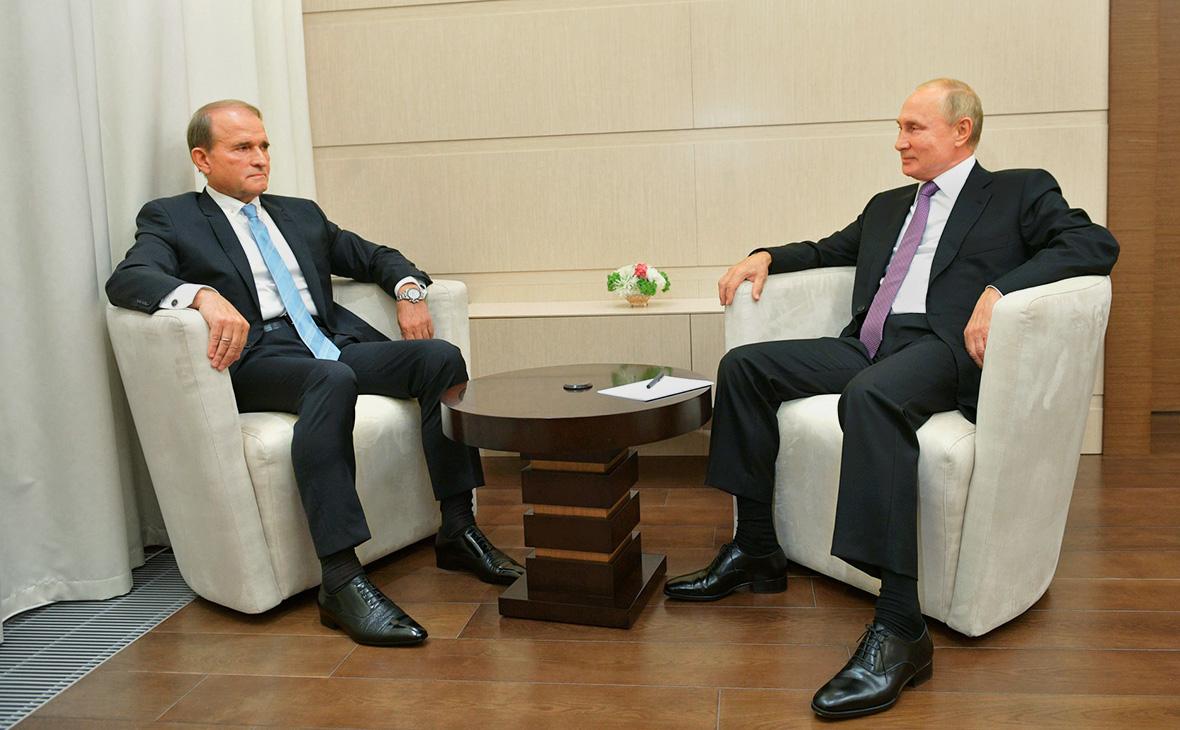 ВикторМедведчук иВладимир Путин