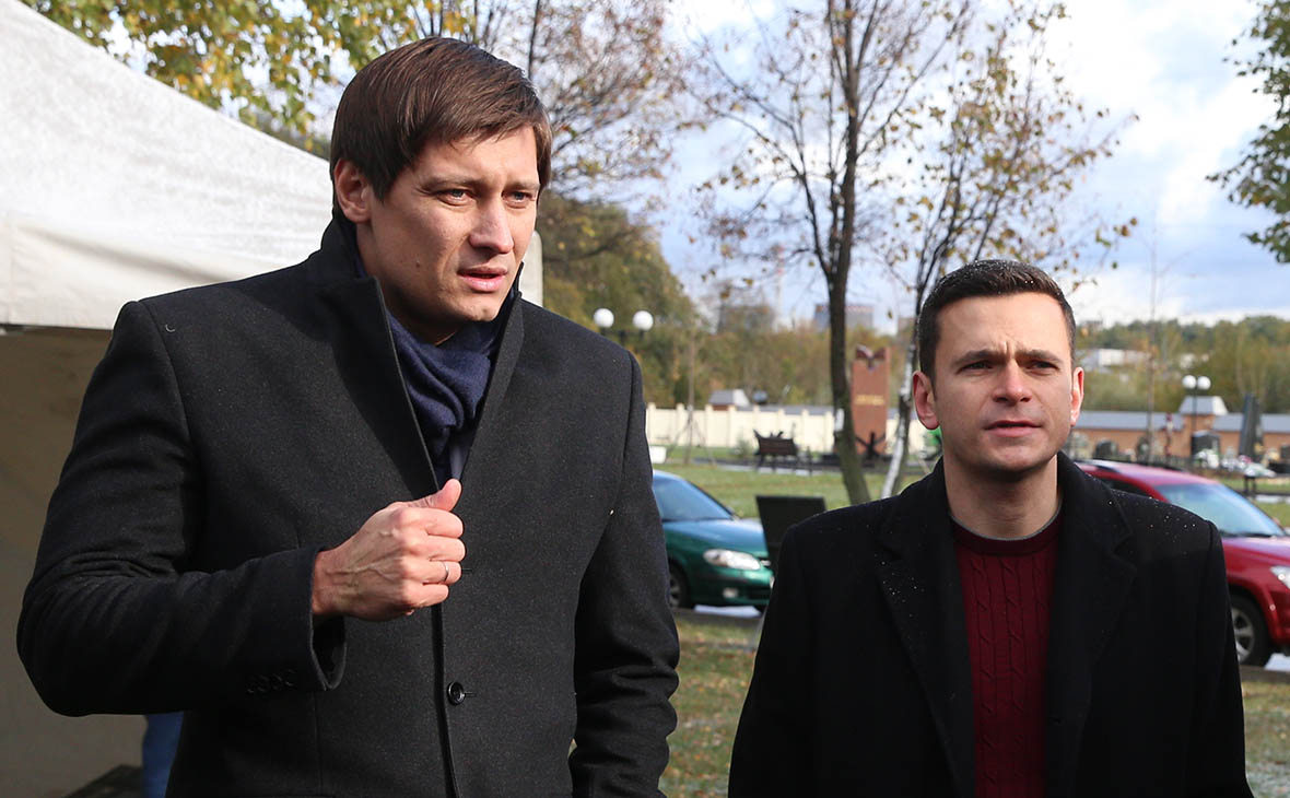 Дмитрий Гудков и Илья Яшин