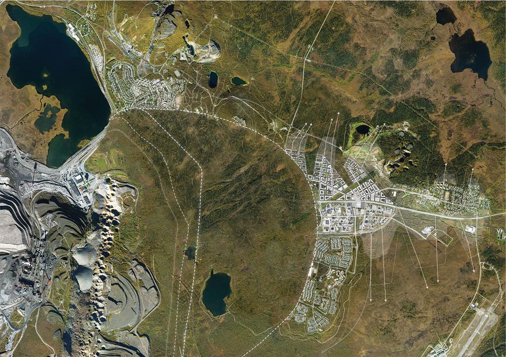 Место будущей разработки железной руды